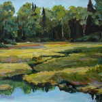 Wetlands California Creek- Late Summer 16x20 Acrylic on canvas